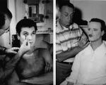 Curtis and Lemmon in the make-up chair