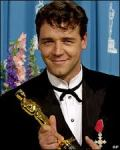Crowe with his Oscar
